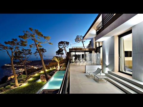 Spectacular Contemporary Bayview Luxurious Villa in Villefranche sur Mer, Cote d'Azur, France