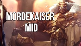 League of Legends -  King of Clubs Mordekaiser Mid - Full Game Commentary