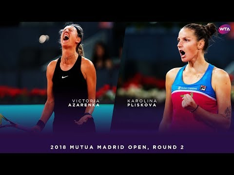 Victoria Azarenka vs. Karolina Pliskova | 2018 Mutua Madrid Open Second Round | WTA Highlights