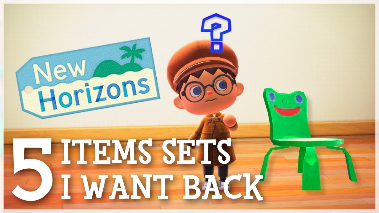 Animal Crossing New Horizons - 5 Item Sets I Want Back