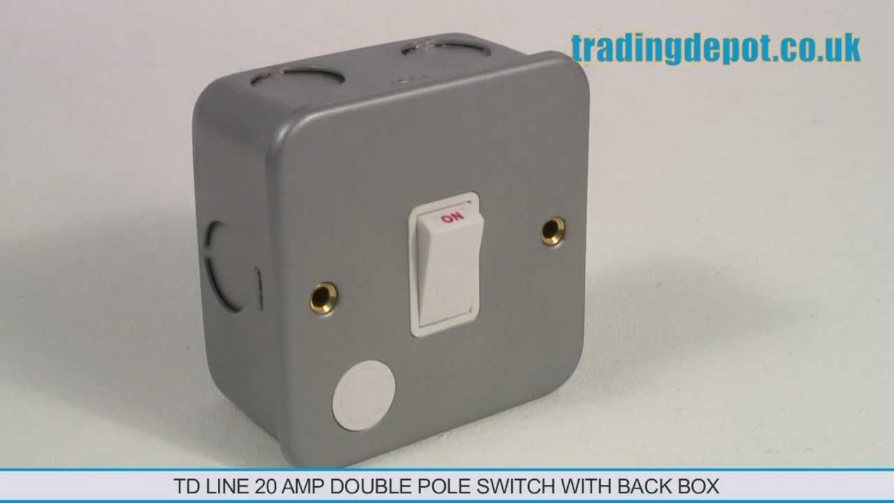 TRADING DEPOT: TD Line 20 Amp Double Pole Switch With Back Box Part ...