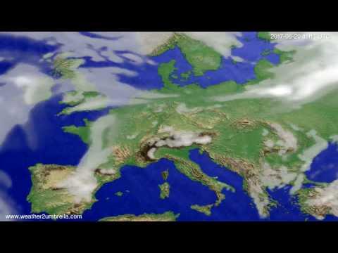 Cloud forecast Europe 2017-06-18
