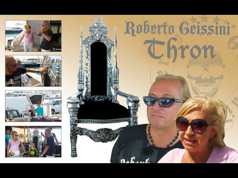 carmen geiss ber den geissens thron kingchair skull youtube. Black Bedroom Furniture Sets. Home Design Ideas