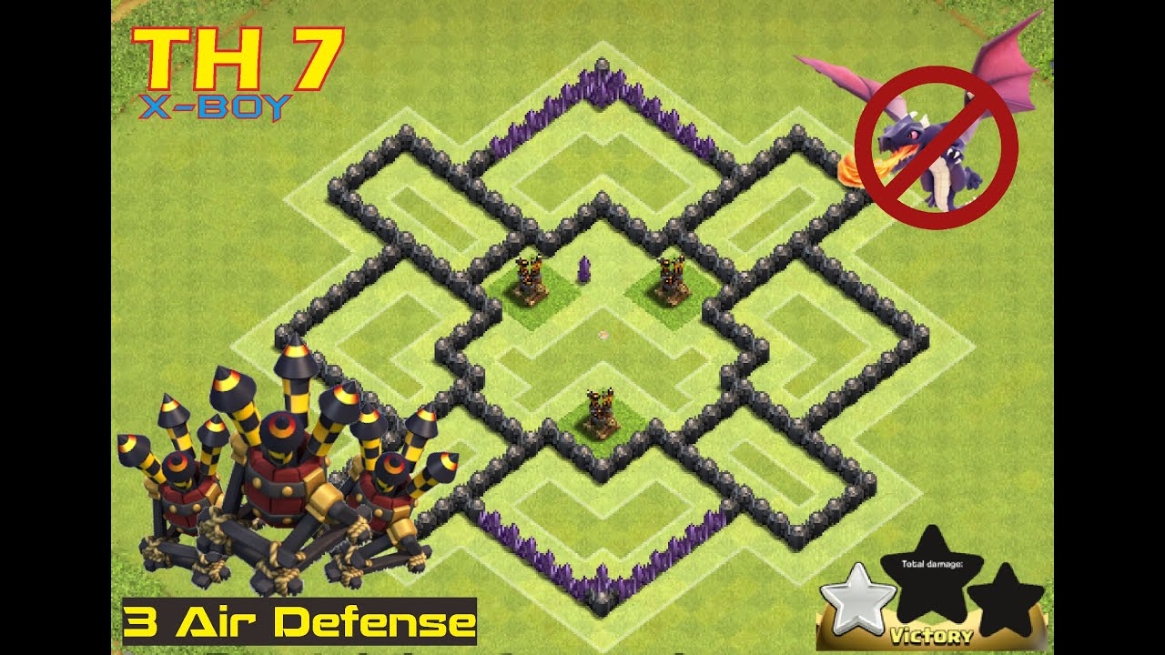TH 7 #2] New Hybrid Base TH 7 update 2016 with 3 AD - YouTube