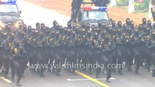 Hell march in India: Contingent of National Security Guard (NSG) parade on 68th R-Day, India