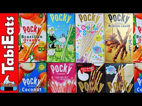 Trying Unusual POCKY Flavors In Japan