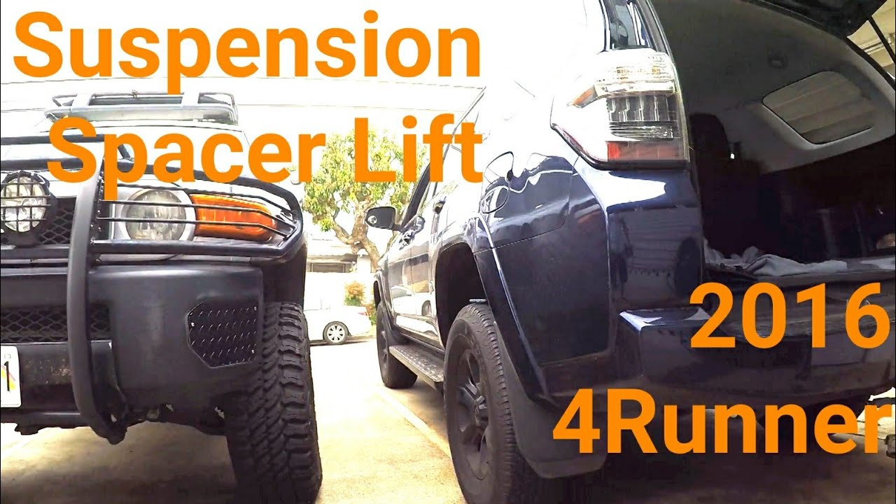 2016 4runner 2wd  4wd Spacer Lift