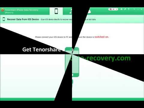 Tenorshare iPhone 6 Data Recovery Software  YouTube