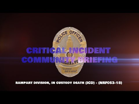 Critical Incident Video Release - NRF053-18