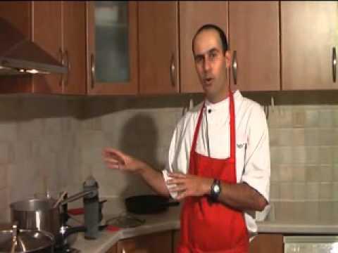 שידור חוזר מתוך שיעור בישול שמשודר בשידור חי