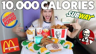 10,000 CALORIE FAST FOOD CHALLENGE
