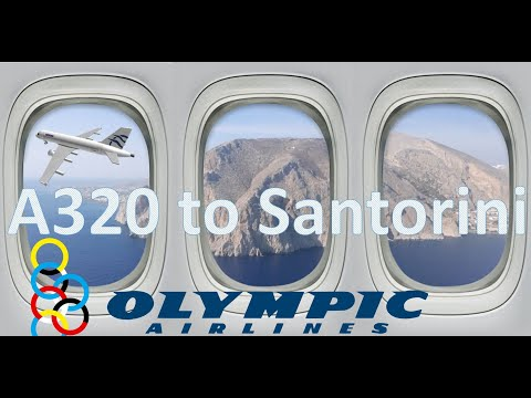 Athens To Santorini, Olympic Airlines / Aegean Air A320, Full Flight Trip Report Review, ATH To JTR