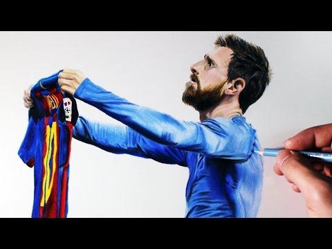 Dibujando A Futbolistas | Lionel Messi
