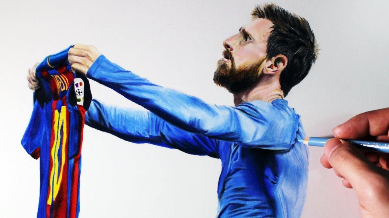 Dibujando a Futbolistas  Lionel Messi  YouTube