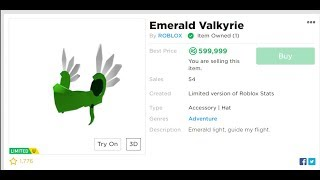 ROBLOX Buying the Emerald Valkyrie (ITS 600K NOW) WTF!!!