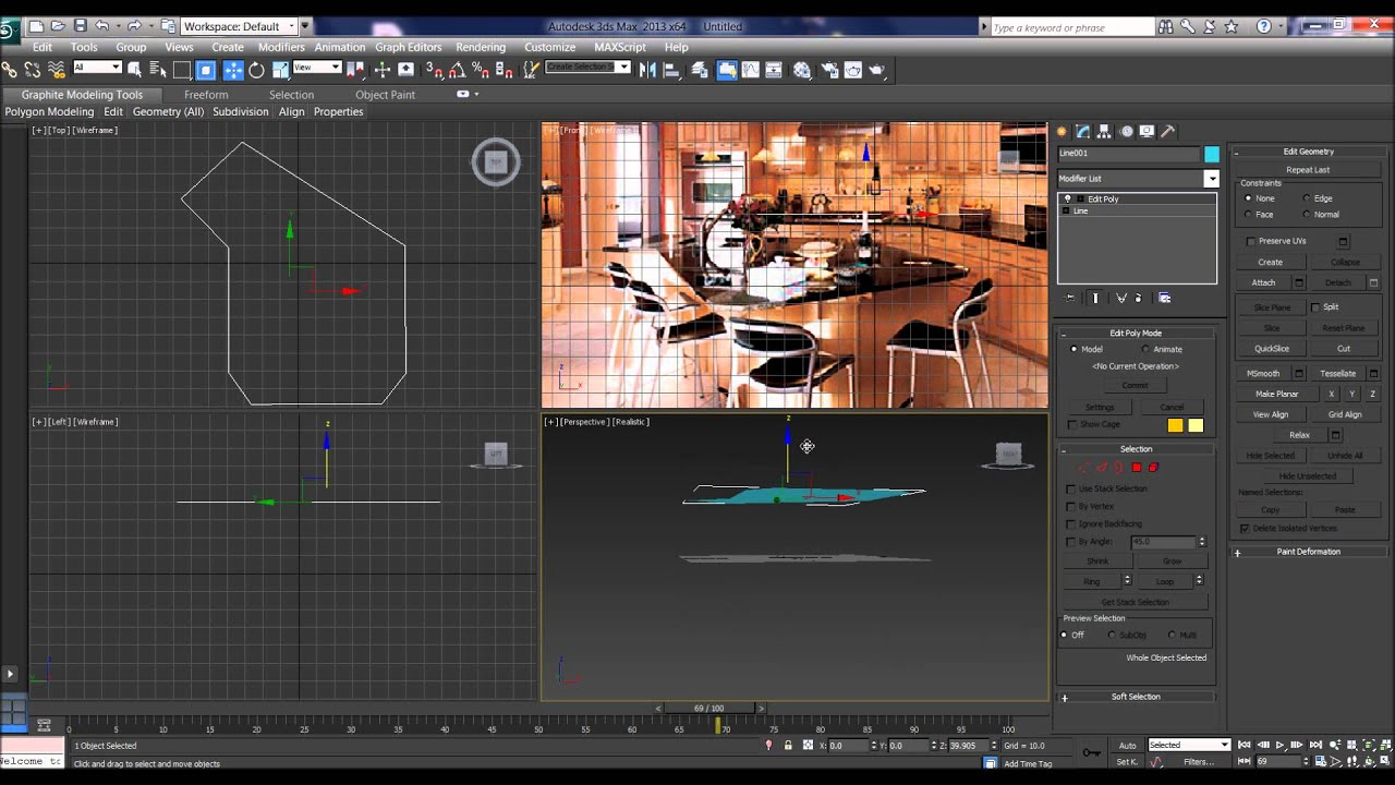 3DS Max Kitchen Tutorial AiH TABLE part 3 - YouTube