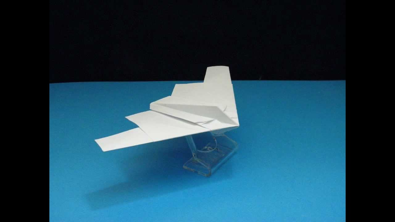 flyable origami b-2 stealth bomber version 1