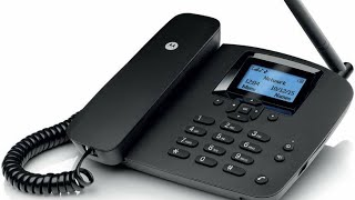 Motorola Fixed Wireless Phone Fw 200 L Black 📠☎️
