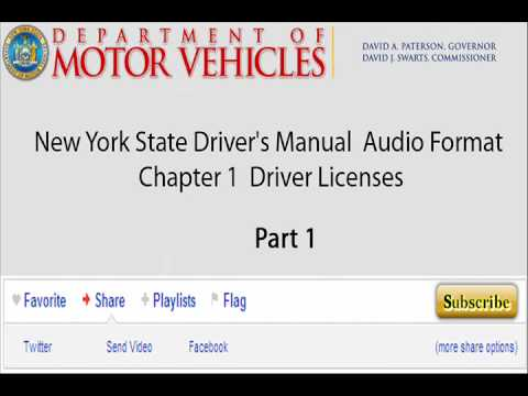 new york state driver s manual chapter 1 driver licenses youtube rh youtube com nys dmv driver's manual pdf nys dmv driver's manual chapter 4
