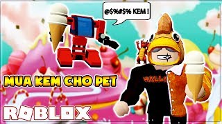 ROBLOX | THE GATE LEADING TO THE LAND OF HALLOWEEN AND PET CAN ALSO EAT ICE CREAM | Ice Cream Simulator
