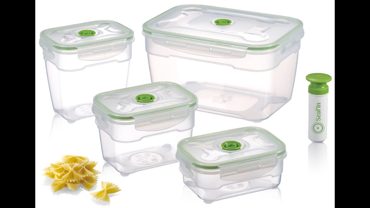 SealIn Nestable Food Storage Vacuum Containers Microwavable
