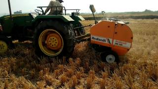 Straw Baler || Farm Baler || Farmer Life ||Agriculture Machinery|| Telangana Agriculture