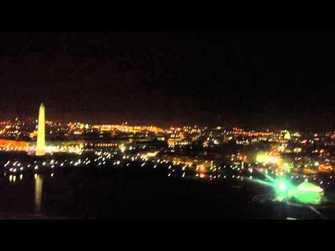 Night landing at DCA, Washington, DC