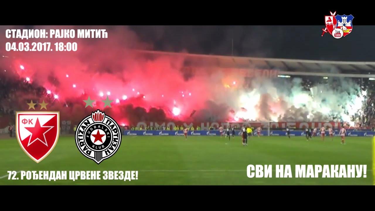 Delije 153 Večiti Derbi Najava Crvena Zvezda Partizan 04032017 18h