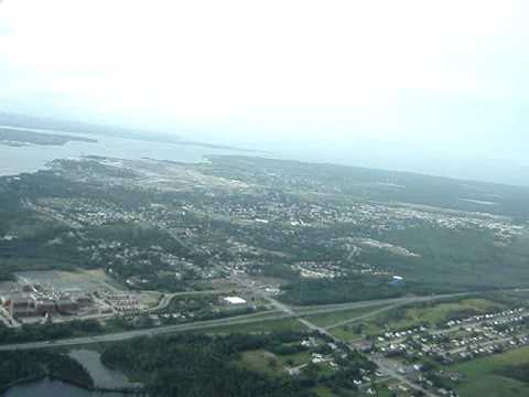 Aerial Canada Sydney NS from South