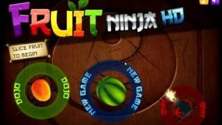 Fruit Ninja Classic Mode Gameplay