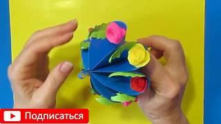 НЕОБЫКНОВЕННЫЙ СУВЕНИР на 8 МАРТА/своими руками/ идеи на День Матери.Поделки из бумаги цветы. Diy.