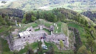 Fort Ostróg z lotu ptaka 2018r. UHD 4K