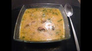 Суп с рыбными консервами и плавленым сыром