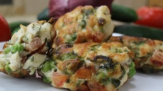 Рецепт- Котлеты куриные рубленные с горошком и зеленью