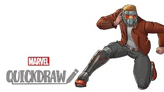 Watch Star-Lord come to life - Marvel Quickdraw