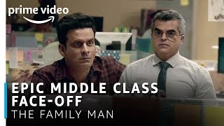 Manoj Bajpayee Vs. Atul Khatri | Epic Middle class Face-off | The Family Man | Amazon Prime Video