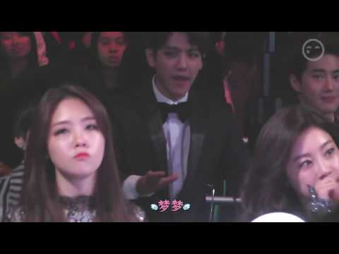 Girl's Day Minah and Sojin reaction to BTS Danger - MAMA 2014 (141203)