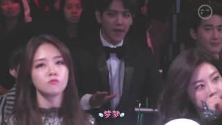 Girl's Day Minah and Sojin reaction to BTS Danger - MAMA 2014 ft. Baehyun Suho Seungyoon