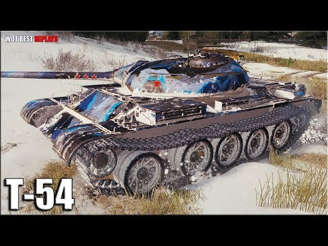 Как играют ТОП статисты на Т-54 ✳️ World of Tanks лучший бой