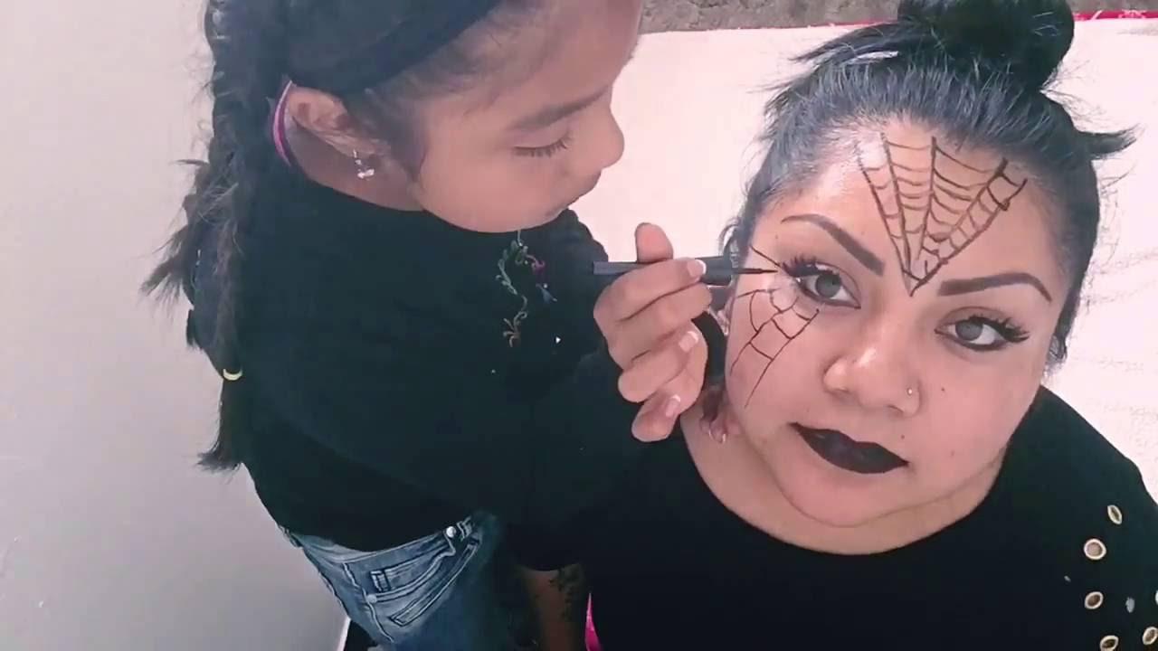 Maquillaje de araña para el día de Halloween (pinta caritas)👍👍🕷🕷