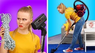 LAZY CLEANING HACKS THAT WILL SAVE YOUR DAY || Genius And Funny Life Hacks by 123 GO! GOLD