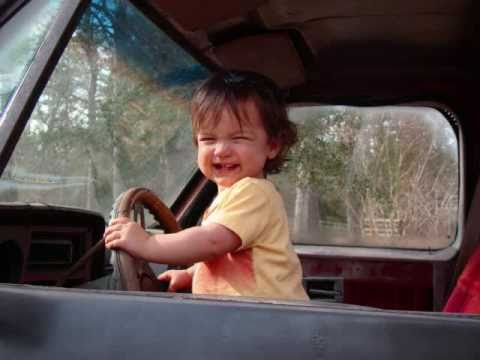Cute 15 month old baby driving lifted chevy mud truck ...