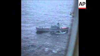 SYND 25 11 75 BRITISH TRAWLERS WITH ICELANDIC GUNBOATS