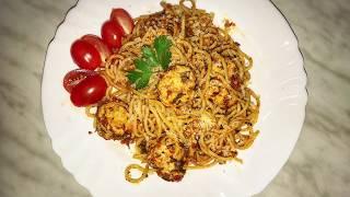 Тефтели из индейки со спагетти