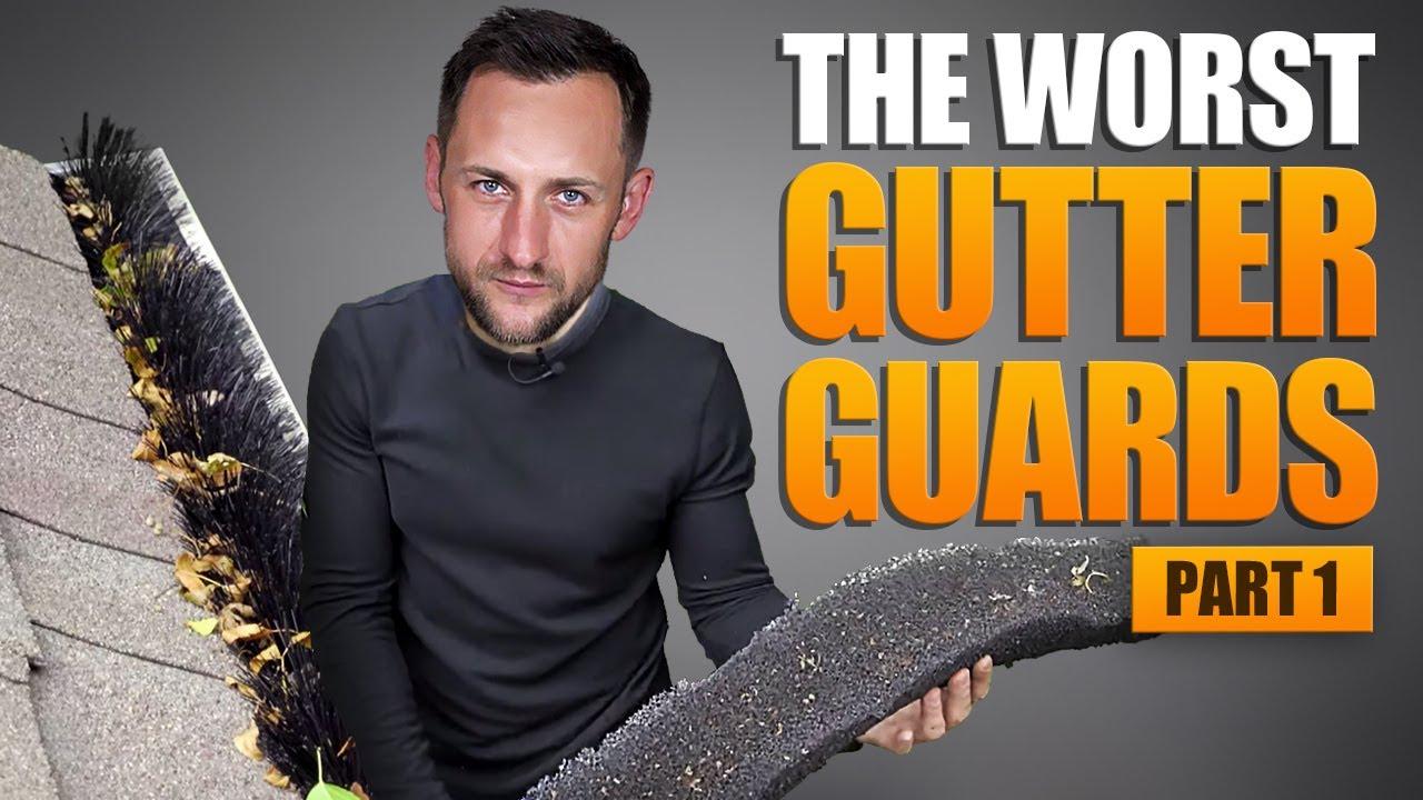 4 Worst Gutter Guards  GutterStuff  leaf guards  Brush  plastic covers
