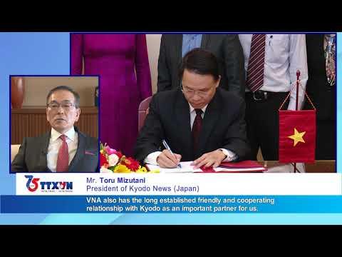 Kyodo congratulates VNA