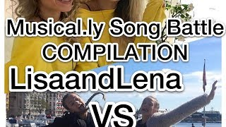 Musical.ly song battle compilation #1 | Lisa and Lena VS Isa Nina