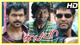 Paiya Tamil Movie Scenes | Jagan tries to save Karthi from Milind Soman | Karthi fights Milind Soman