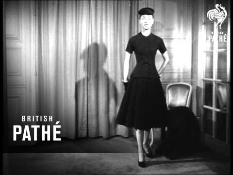 Dior S Fashions For 1955 1954 Youtube