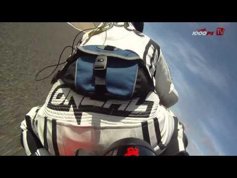Aprilia RSV4 Factory APRC onboard video at Racetrack Alcarraz